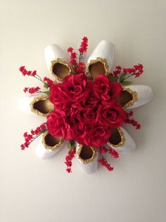 Elegant Pointe Shoe Wreath. Ballet ballerina Decor. Dance Keepsake. Wedding. Bridal. Mothers Day. gift. birthday. Christmas centerpiece! by PointeBlankDesigns on Etsy https://www.etsy.com/listing/259706109/elegant-pointe-shoe-wreath-ballet