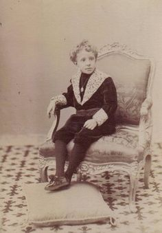 A young King Alfonso XIII of Spain.