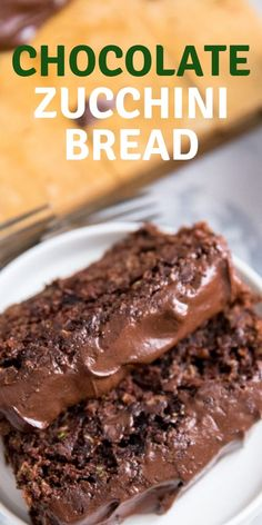 This chocolate zucchini bread is a wonderful way to use up the season's finest vegetable! Garden-fresh grated zucchini keeps this quick bread recipe soft and moist. These triple chocolate zucchini bread loaves are great any time of day!