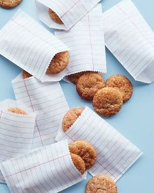 Whole-Wheat Snickerdoodle Bites - cute back to school packaging