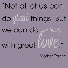 A Whim by emilyjeanroche #love #quotes mother theresa