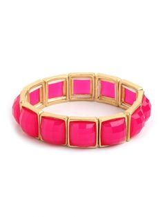 Ruby Jewel Bangle via BaubleBar