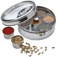 Kitchen Craft Stainless Steel Indian Masala Dabba Spice  / Herb Tin