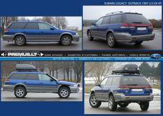 Subaru Outback lift kit is epic :D
