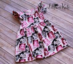 Knit Vintage Princess Dress Jersey Knit by LillianKateCustom