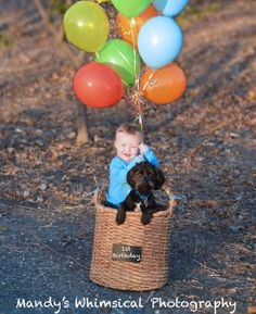 Great first birthday shot... A boy with his dog!!! Visit www.mandyswhimsicalphoto.com to see more and book a shoot