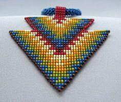 Seed Beaded Necklace Art Jewelry Double от HANWImedicineArt