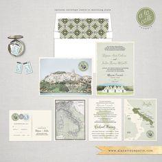 Destination wedding Italy Wedding by cestlavieinvitations on Etsy