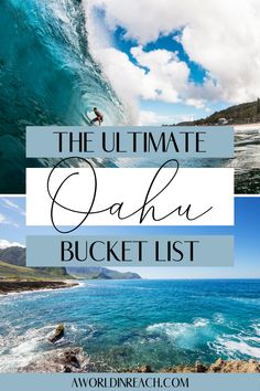 Planning a trip to Oahu, Hawaii? Check out this list of the top things to do in Oahu for your Oahu bucket list, including epic hikes, exciting activities, gorgeous beaches, hidden gems and more! / what to do in Oahu Hawaii / places to visit on Oahu / Oahu Hawaii travel tips / top things to do in Oahu / hidden gems in Oahu / Oahu travel inspiration / Hawaii travel inspiration / Hawaii bucket list travel / Oahu travel guide / secret places in Oahu / Oahu North Shore things to do / Waikiki travel Hawaii Travel Guide, Usa Travel Guide, Travel Usa, Travel Guides, Hawaii Things To Do, North Shore Oahu, Visit Usa, International Travel Tips, United States Travel