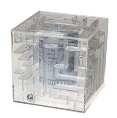 """MagNif Money maze Puzzle (082382012000) Difficulty Level [1-5]: 2 (Tricky) Approximate Dimensions: 3.75"""" x 3.75"""" x 3.75"""" Excellent Quality."""