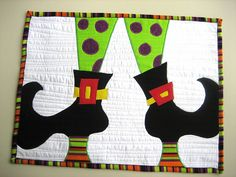 halloween quilt ( maybe shrink the dimensions for placemats )