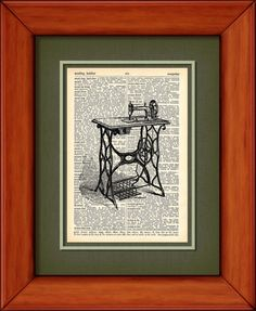 Dictionary Art Print  Antique Singer Sewing Machine by PagesOfAges, $7.00
