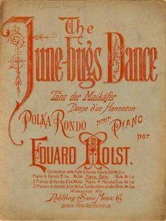 Sheet Music - June-bugs dance; Tanz der Maikafer; Danse dun Hanneton
