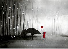 """""""little red riding hood ~ be my valentine"""" Photographic Prints by minoule 