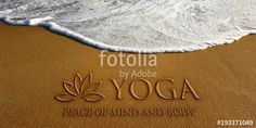 """Download the royalty-free photo """"Lotus Yoga in the Beach Photo Image"""" created by Fotolia365 at the lowest price on Fotolia.com. Browse our cheap image bank online to find the perfect stock photo for your marketing projects!"""