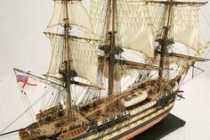 Close-up photos of ship model HMS Wellesley. HMS Wellesley was launched at Bombay in 1815 as a 74 gun ship. Old Sailing Ships, Close Up Photos, Hms Victory, Model Ships, Ship Of The Line, Tall Ships, Art Model, Military, Plastic