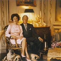 The Duke & Duchess of Windsor at the Windsor Villa in Paris.