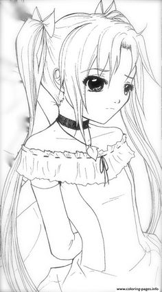 Anime Girl Coloring Pages Adult Anime Girls Coloring Pages