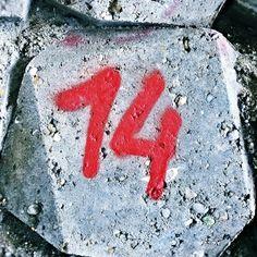 Red 14 #red #redpaint #red14 #redfourteen #rednumbers #streetart #amsterdam #fourteen #14 #number