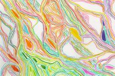 Color Lines Process Art, Color Lines, Abstract, Illustration, Artwork, Summary, Work Of Art, Auguste Rodin Artwork, Artworks
