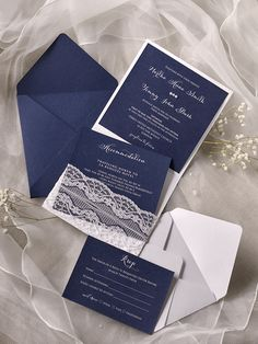 WEDDING INVITATIONS 01/laceW/z