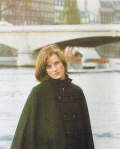 Lady Diana Spencer posed with her friend, Caroline Harbord-Hammond, (to the right and not in this picture) by the banks of the river Seine in Paris, during a trip from West Heath school where she was a boarder.