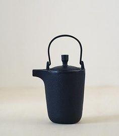 Sankaku Tea Pot Cast Iron Cobalt Blue only  $74.00