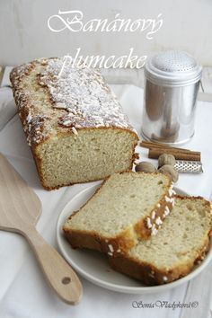Unavená vařečka: Banánový plumcake Sponge Cake, Banana Bread, Fruit Cakes, Tarts, Sweet, Powder, Recipes, Pizza, Food