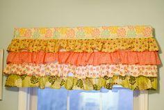 Ruffled curtain valance tutorial