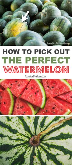 5 tips on how to choose the BEST watermelon! Wish I had known about these a long time ago.