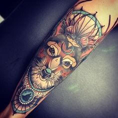 Awesome wolf tat