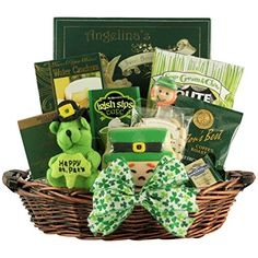 Popcornopolis 7 cone variety popcorn gift basket gluten free luck o the irish st patricks day gourmet gift basket you can get more negle Choice Image