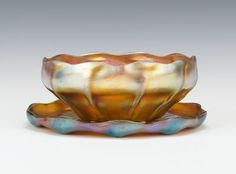 222. A Tiffany Favrile Bowl and Underplate - Featuring the Estate of Joseph T. Gorman - ASPIRE AUCTIONS