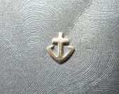 Eye of Horus Sterling Silver Ship Anchor Microdermal Top. $23.00, via Etsy.