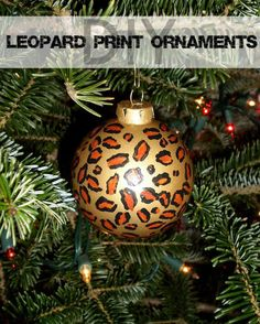 DIY Leopard Print Christmas Ornaments | Nancherrow.com