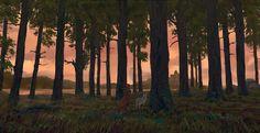 ArtStation - Forest 2, Bastien Thuillot
