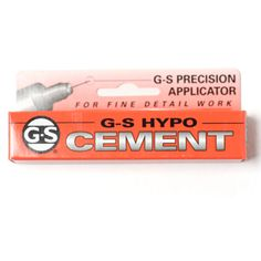 beadshop.com   G-S Hypo-Tube Cement when using stretchy cord, use this to secure