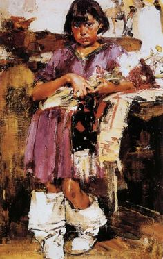 Nikolay Fechin Girl oil painting picture