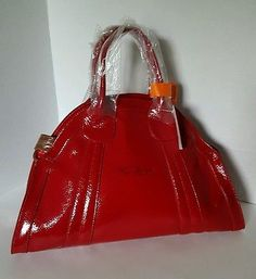 La Gioe di Toscana by Sharon Gioe Genuine Red Pantent Leather Handbag Purse