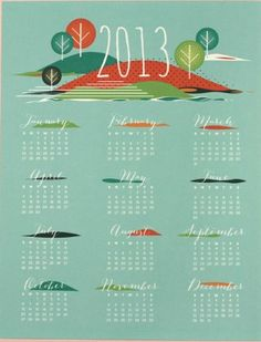 2013 Calendar from Love vs. Design from Today's Creative Blog
