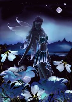 Moon Fairy - trin likes the skirt tendrils