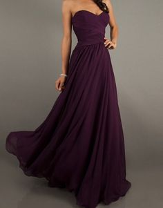 Or agin purple dress with front detail.