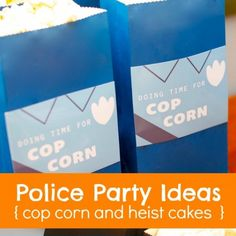 This kid's party food idea is perfect for a boy's police themed birthday party.