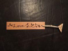 Love wood burnt bookmark