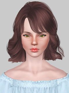 Skysims 255 + Chopped version Wanted to alpha edit for the chop but the UV mapping didn't help so I had to edit the mesh. I think it looks kinda cute anyways :) Sims 3 Cc Finds, Sims Hair, Sims 4 Clothing, Sims Cc, Ps4, Content, Baby, Anime, Character