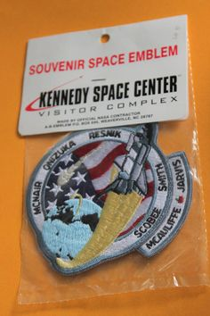 Your place to buy and sell all things handmade Challenger Space, Space Shuttle Challenger, Kennedy Space Center, Geek Chic, Nasa, Great Gifts, Patches, Electric, Geek Stuff