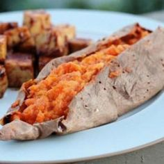 Maple Cinnamon Twice-Baked Sweet Potatoes Recipe sides, gluten free, nut free, vegetarian, rosh hashanah with 7 ingredients Recommended by 4 users.