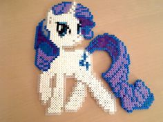 Rarity Hama Beads by HamaBeadsPonies on deviantart. I like these color choices.