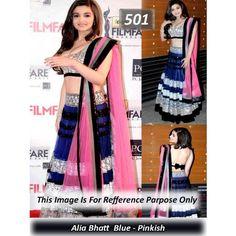 Aaliya bhatt blue-pinkish designer lahenga