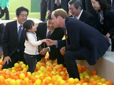 The prince even met with kids in a ball pit at a children's fun park which was, well, adorable.